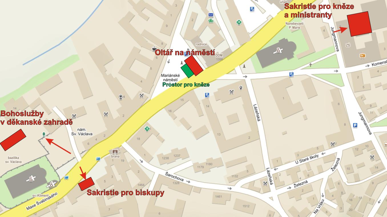 Mapa s informacemi pro kněze